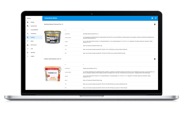 Integration Produktdaten