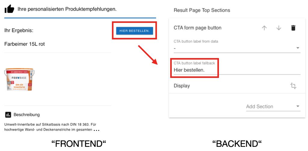 CTA Button Frontend