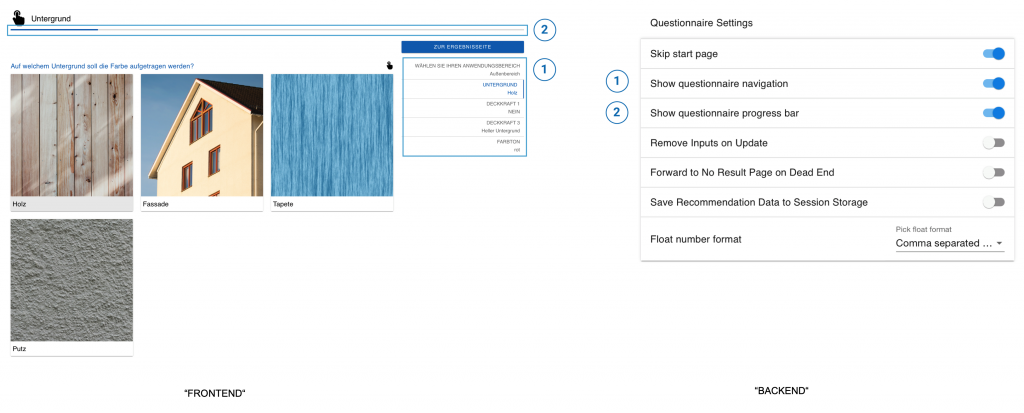 General questionnaire settings