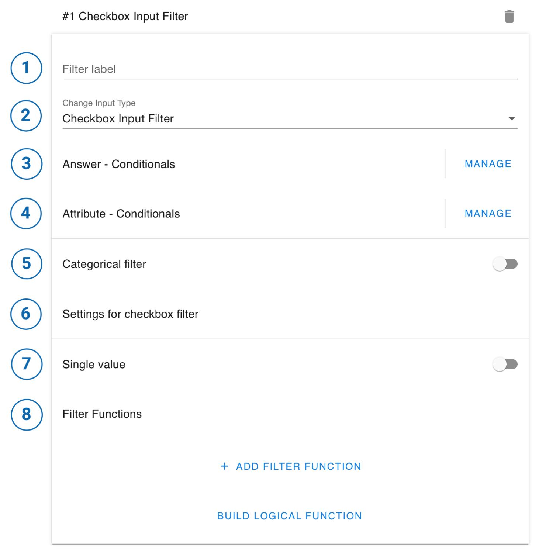 checkbox input filter
