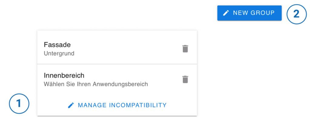 Benutzeroberfläche Inkompatibilitäten
