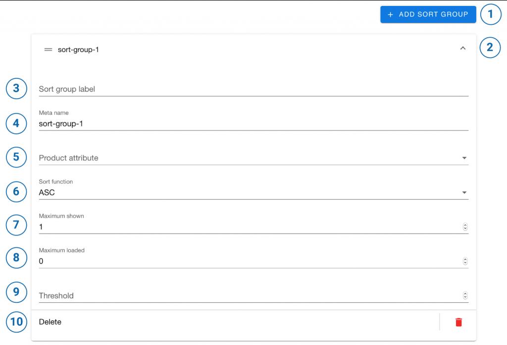 Mit der Sort Group kann man die empfohlenen Produkte zusätzlich anhand in der CSV-Datei hinterlegten Wertung sortieren.