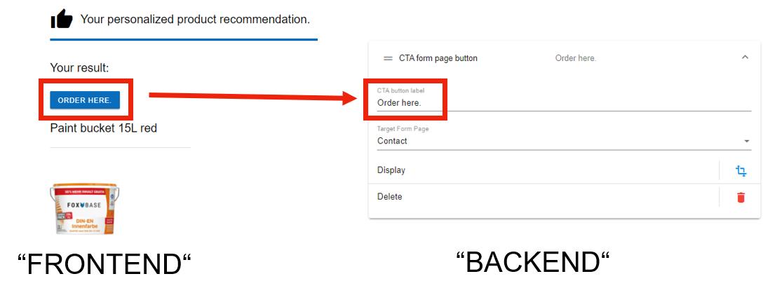 CTA button front end